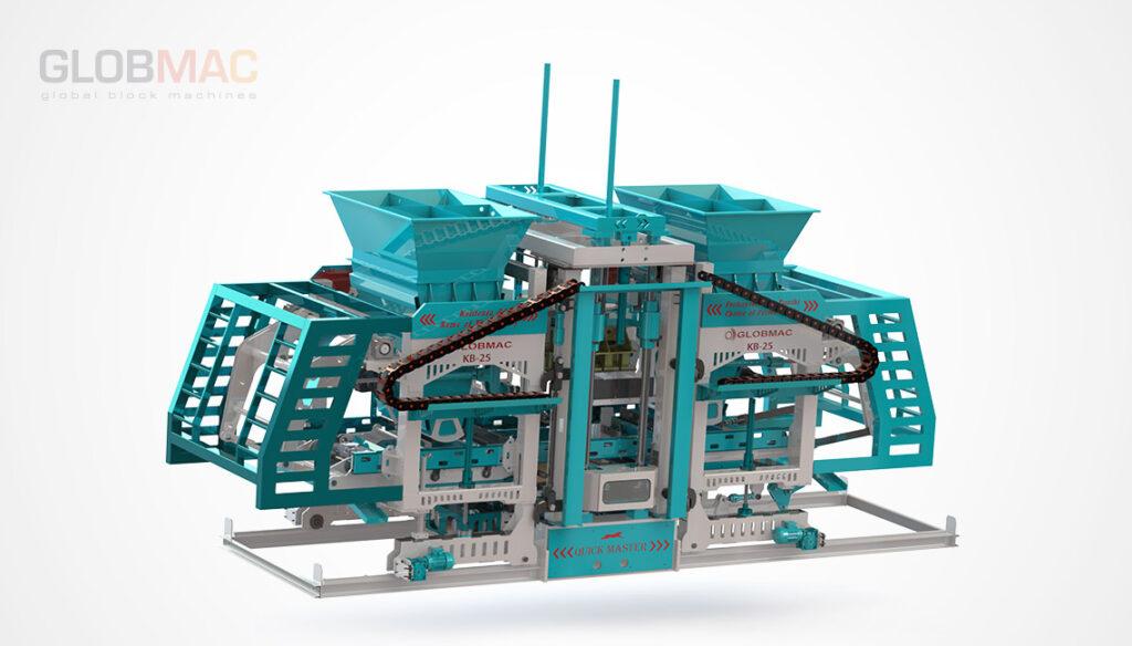 KB25 QUICK MASTER Otomatik Beton Parke ve Briket Makinası