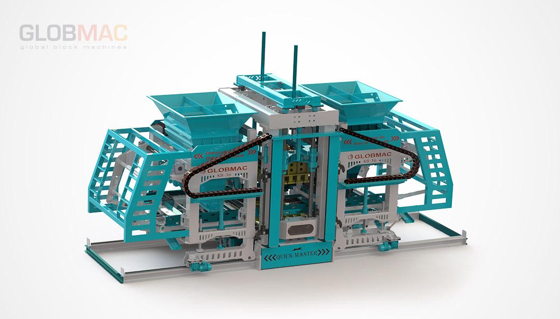 KB36 QUICK MASTER Otomatik Beton Parke ve Briket Fabrikası