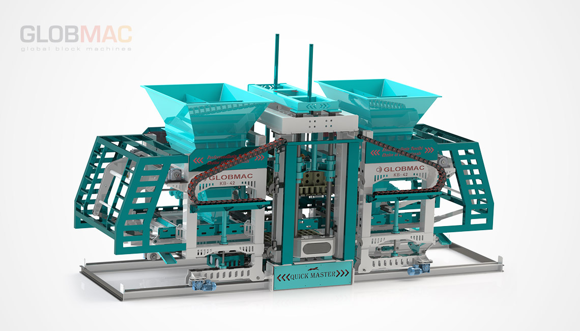 KB42 QUICK MASTER Otomatik Beton Parke ve Briket Fabrikası